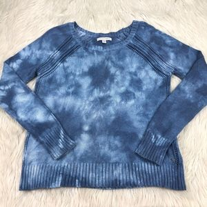 AEO Blue Tie Dye Pull Over Sweater